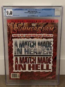 1991 WWF Summerslam 1991 Official Program CGC 9.0 Macho Man Elizabeth Wedding