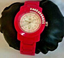 $195 JUICY COUTURE Ladies Hot Pink Plastic Bracelet Watch Excellent Condition