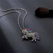 Charm Unicorn Necklace For Women Minimalist PendantChain Choker Q