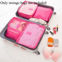 6 Stück Set Gepäck Organizer Koffer Aufbewahrungsbeutel Verpackung Reisewürfel