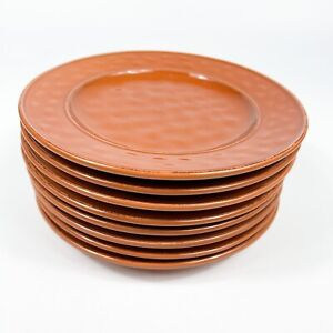 """8 Pier 1 One Imports Martillo Cinnamon 8.5"""" Salad Desert Bread Plate"""