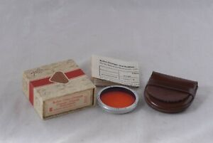 Original Rollei RII Orange Filter Boxed w/Leather Case Bayonet II