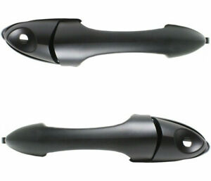 New Outside Front Door Handles Set 2 Black with Keyhole for 2000-2007 Ford FOCUS