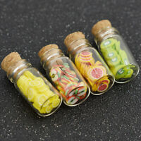 4 Dollhouse Miniature Glass Candy Jar Bottle Shop Store Kitchen Decor 1/12