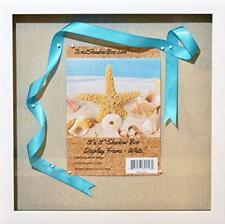 """(6-Pack) 12x12"""" White Display Shadow Box Frame 8 Push Pins a Linen Background"""