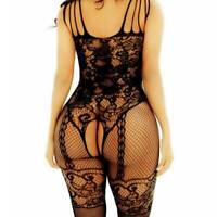 Bodystockings Lingerie Nightwear Big Fishnet Dress Body Mesh Bodysuit Stocking