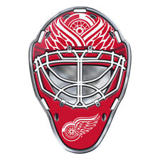 Detroit Red Wings Hockey Mask Auto or Hard Surface Emblem Decal NHL Licensed