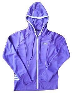 Adidas Womens Small Purple Hoodie Medalist Golf Club Golf Zip Up Sweatshirt