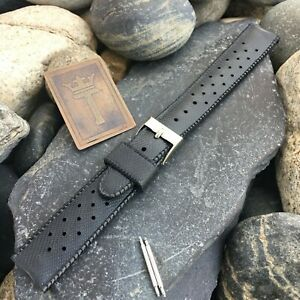 18mm SUB Swiss Perforated Tropical Diver Strap nos 1960s Vintage Watch Band