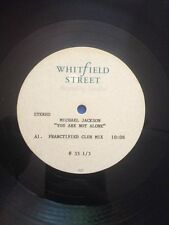 "Michael Jackson 12"" ACETATE "" YOU ARE NOT ALONE "" 2 mix - WhitField Street - UK"