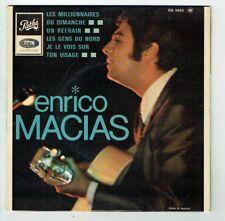"""Enrico MACIAS Vinyl 45 tours EP 7"""" LES MILLIONNAIRES DU DIMANCHE - PATHE 1032"""