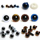 Safety Toy Eyes (9mm-18mm Brown Blue White Amber) Fast dispatch & Free Delivery