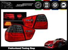 NUOVO COPPIA FANALI FARI POSTERIORI LDBMC6 BMW E90 2005-2008 RED SMOKE LED BAR