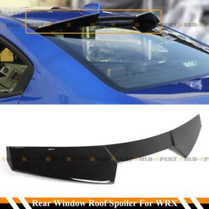 FOR 15-21 SUBARU WRX STI GLOSS BLACK V STYLE HIGH KICK REAR WINDOW ROOF SPOILER