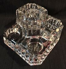 Partylite 5 tier tea light candle holder Large Crystal Castle multi tiered Glass