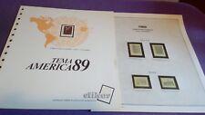 hojas sellos america upaep, Efilcar especial 1989.