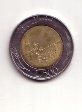 Repubblica Italiana 500 lire 1995 Bicolore bimetallico acmonital  bronzital   BB