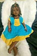 """Annette Himstedtl Ayoka African Amer Reflections Of Youth Beautiful~27"""" Vinyl"""