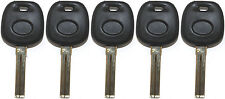 5 NEW LEXUS OEM QUALITY TRANSPONDER CHIPPED UNCUT MASTER KEY BLANK - 4D68 CHIP