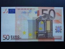 RARE!!! N1 Europe SLOVENIA 50 Euro 2002  H-serie UNC, DRAGHI Sign, Printer R051