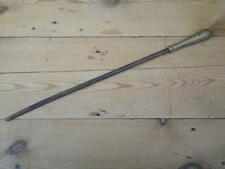 Vintage Brass Handle Fireplace Iron Poker Home Tools F4