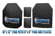 AR500 Level III 3 Body Armor Plates - Curved 10x12 w/ Side Plates SAPI/Swimmer