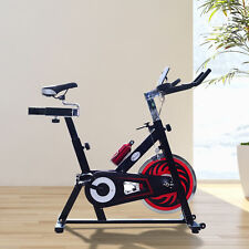 Exercise Bike Fitness Upright Indoor Bicycle Trainer W/ LCD Monitor