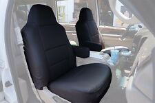 FORD F-250 350 2004-2010 BLACK S.LEATHER CUSTOM MADE FIT FRONT SEAT COVER