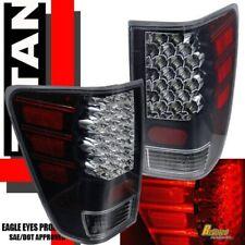 Black LED Tail Lights Lamps For 2004-2011 Nissan Titan LE XE SE Pickup 1 Pair