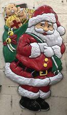 Brand New Plastic Santa Claus Wall Plaque/Christmas Decoration