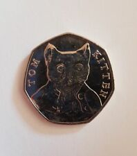 Rare 2017 Tom Kitten 50p Coin