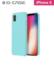 COQUE RIGIDE G-CASE ORIGINAL SERIES SILICONE IPHONE X SOFT TOUCH BLEU MARIN