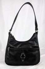 "GIANI BERNINI ""NAPPA"" Ring Black Leather Shoulder Hobo Bag Msrp $129.50"