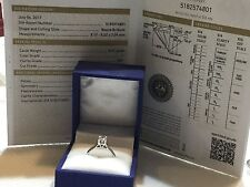 14k white gold diamond engagement ring .51ct I color VS1  clarity