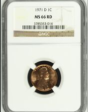 1971 D Lincoln Cent NGC MS 66 RD