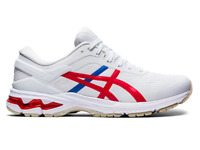 Asics Men's Gel-Kayano 26 Shoes NEW AUTHENTIC White/Red/Blue 1011A771-100