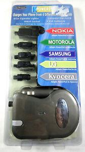 Power Pod 4-In-One Charging System NEW Nokia/Motorola/Blackberry USB Car/Wall