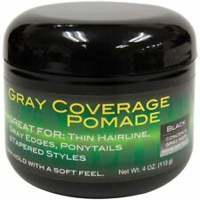 Weave Gray Coverage Pomade For Ponytails Twists Locks tapered Black 4 oz