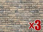 3x Basalt Wall Cardboard - Vollmer 46038 - OO/HO decor