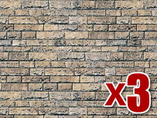 3x Basalto pared de cartón - Vollmer 46038 - OO/HO Decoración