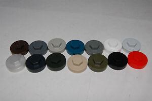 "8mm (5/16"") Hexagonal Hex Head Tek Tec Tech Screw Cap Cover for 16mm/19mm Washer"