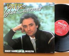 Philips 432 270-1 Love Is....Jose Carreras Robert Farnon & Orchestra 1984 NM/EX