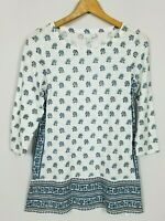 J. Jill Women's XS Boho 3/4 Sleeve Cotton Modal Slub Knit Tunic Top
