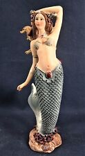 Mermaid w/teal color tail Mythical undersea figurine