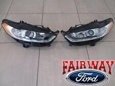 13 thru 16 Fusion OEM Genuine Ford Parts Halogen Head Lamps Lights LH & RH PAIR