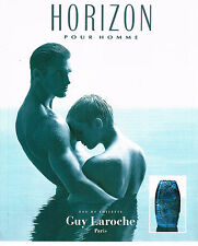 PUBLICITE ADVERTISING 064  1994  GUY LAROCHE parfum homme HORIZON