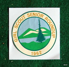 VINTAGE GIRL SCOUT - 1962 GIRL SCOUT SENIOR ROUNDUP DECAL