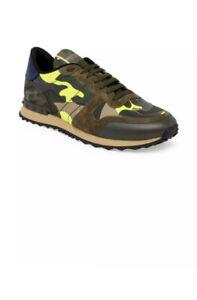 New Auth Valentino Garavani Rockrunner Camouflage Camo Men Sneakers Shoes 8 $795