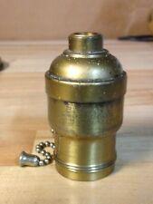 New listing Antique Vintage Bryant 1910 Fatboypull Chain Lamp Socket Light Part