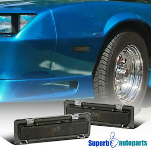 For 1985-1992 Chevy Camaro Pontiac Firebird Side Marker Lights Signal Lamp Smoke